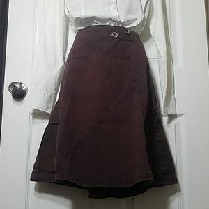 Dark Brown Skirt with side zip